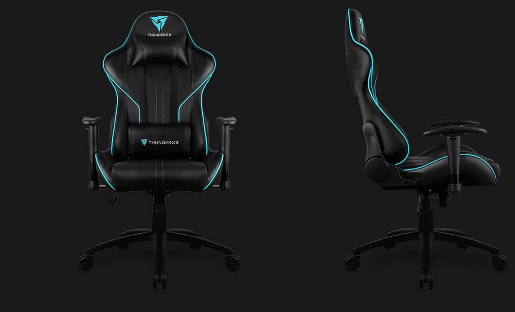 Aerocool Thunderx3 Rc3 Black Cyan Gaming Chair Rc3 Black